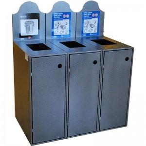 Station Recyclage Dechets Metal Plastique Modulo-903 Pile PourlaVie